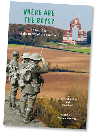 Where Are The Boys? book on the 1st day of the Battle of the Somme
